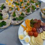 Chlebíčky a obložené mísy