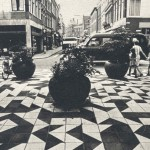Chodník v centru města, Gorinchem, Nizozemí